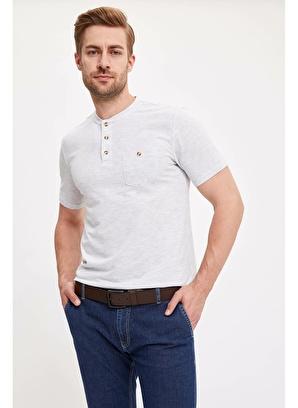DeFacto Düğmeli Kısa Kollu T-shirt